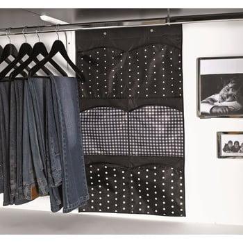 Organizator textil suspendat pentru șifonier Compactor Pockets, 6 buzunare, gri poza bonami.ro
