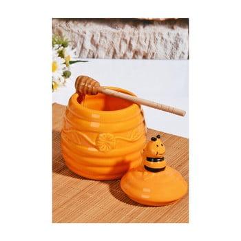 Recipient pentru miere cu capac Honey, galben bonami.ro