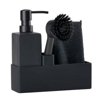 Set pentru spălat vase Zone Trio, negru bonami.ro