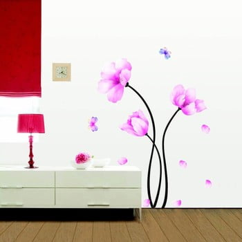 Set autocolante Ambiance Pink Flowers And Butterflies bonami.ro