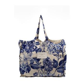 Geantă textilă Linen Blue Flowers, lățime 50 cm poza bonami.ro