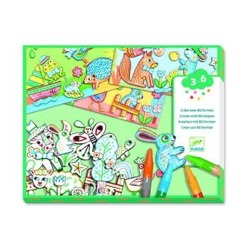 Set artistic pentru colorat și lipit Djeco Animal Friends bonami.ro