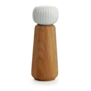 Râșniță din lemn pentru sare/piper Kähler Design Hammershoi, mare, alb, înălțime 17,5 cm poza bonami.ro