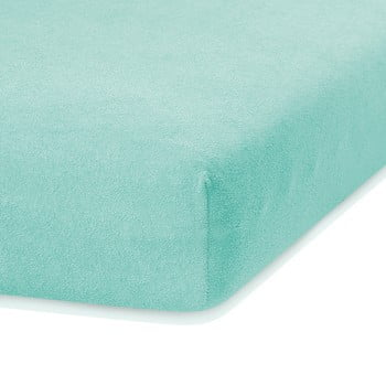 Cearceaf elastic AmeliaHome Ruby, 200 x 160-180 cm, verde mentol bonami.ro