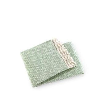 Pled din amestec de bumbac Euromant Agave, 140x180cm, verde mentol bonami.ro