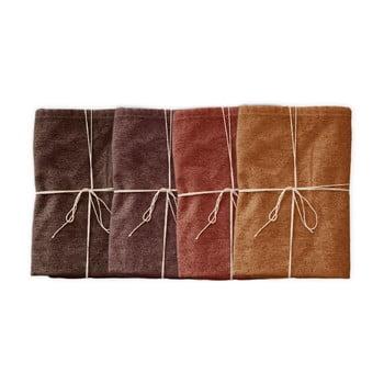Set 4 șervețele textile Linen Couture Red Gradient, lățime 40 cm bonami.ro