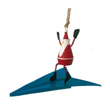 Decorațiune suspendată pentru Crăciun G-Bork Santa on Airplane poza bonami.ro