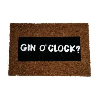 Covoraș intrare din fibre de cocos Artsy Doormats Gin O'Clock Glitter, 40 x 60 cm bonami.ro