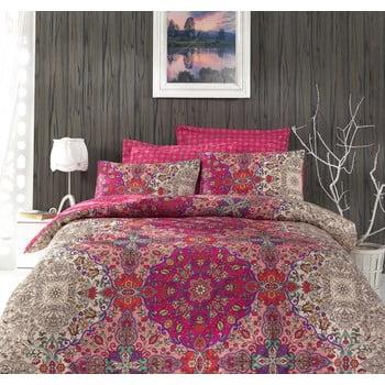Lenjerie de pat cu cearșaf pentru pat dublu Tugba , 200x220cm bonami.ro