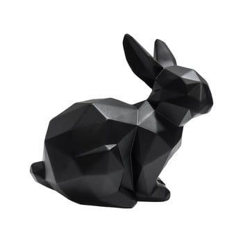 Statuetă PT LIVING Origami Bunny, înălțime 17 cm, negru mat bonami.ro