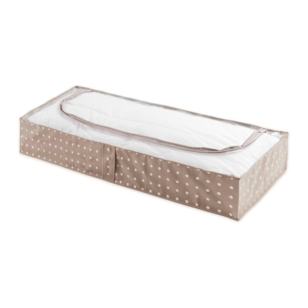Cutie mică pentru depozitare Compactor Dots, 46 x 107 cm, bej