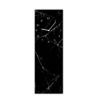 Ceas de perete Styler Glassclock Black Marble, 20 x 60 cm poza bonami.ro