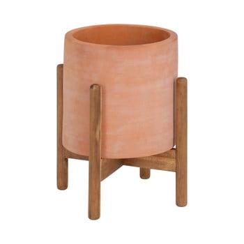 Ghiveci din teracotă cu suport din lemn La Forma Dalva, ⌀ 30 cm bonami.ro