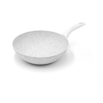 Tigaie WOK cu mâner argintiu Bisetti Stonewhite Dario, ø 28 cm poza bonami.ro