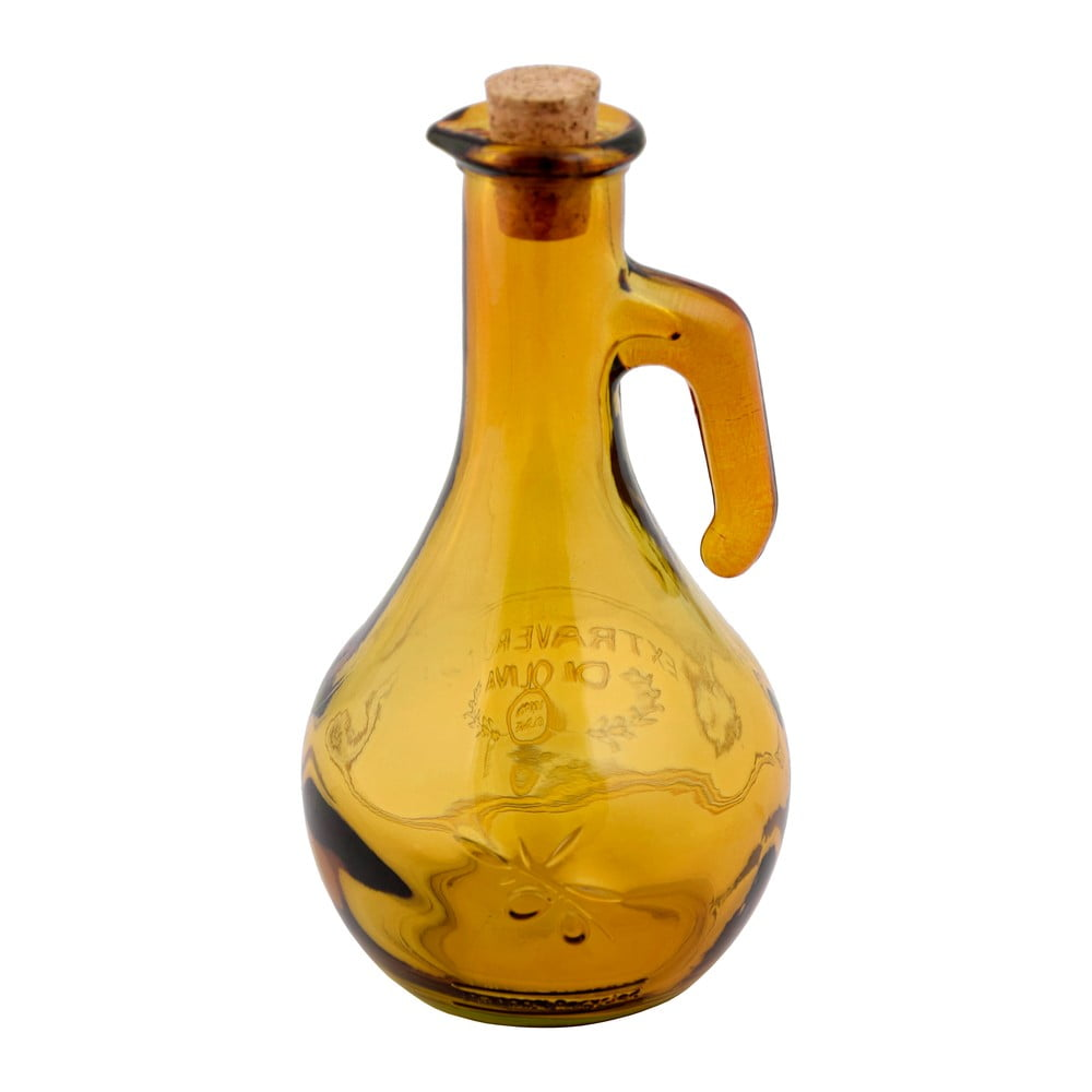 Poza Oliviera din sticla reciclata Ego Dekor, 500 ml, galben