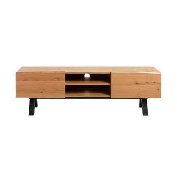 Comodă TV din lemn de stejar alb Unique Furniture Oliveto imagine