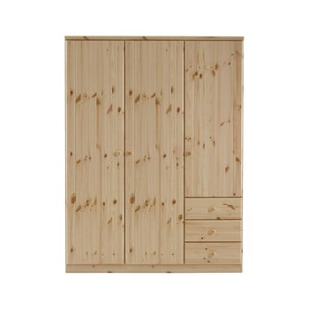 Dulap din lemn de pin Steens Ribe, 202 x 150,5 cm, maro poza bonami.ro