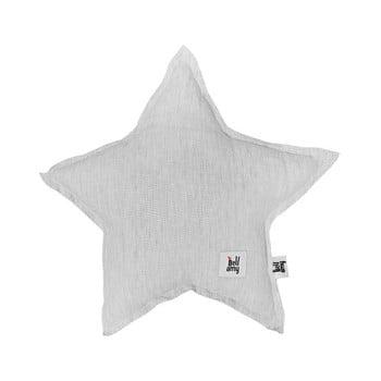 Pernă din in în formă de stea pentru copii BELLAMY Stripes, gri poza bonami.ro