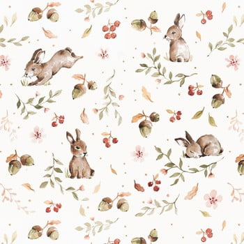 Tapet Dekornik Happy Rabbits, 50 x 280 cm bonami.ro