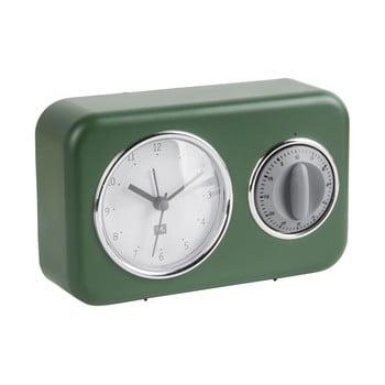 Ceas cu timer de bucătărie PT LIVING Nostalgia, verde poza bonami.ro