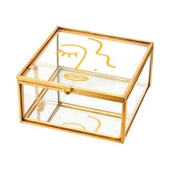 Cutie pentru bijuterii Sass & Belle Abstract Face, detalii aurii bonami.ro