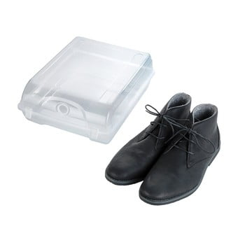 Cutie transparentă pentru depozitarea pantofilor Wenko Smart, lățime 29 cm poza bonami.ro