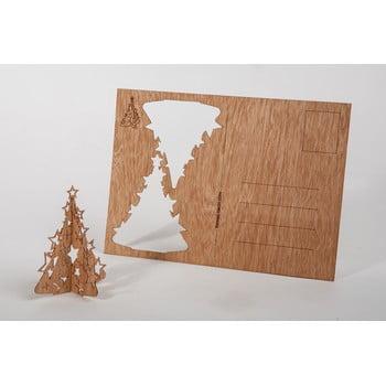 Carte poștală din lemn Formes Berlin Vánoční stromeček, 14,8 x 10,5 cm bonami.ro