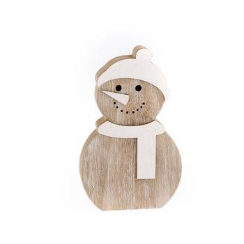 Decorațiune din lemn Dakls, înălțime 14,2 cm, om de zăpadă bonami.ro