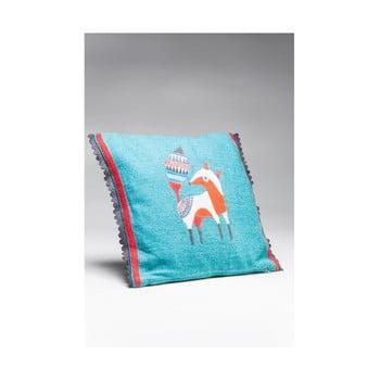 Pernă Kare Design Foxy, 40 x 40 cm, albastru bonami.ro