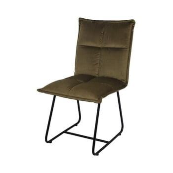 Scaun cu tapițerie din catifea HSM collection Estelle, maro olive imagine