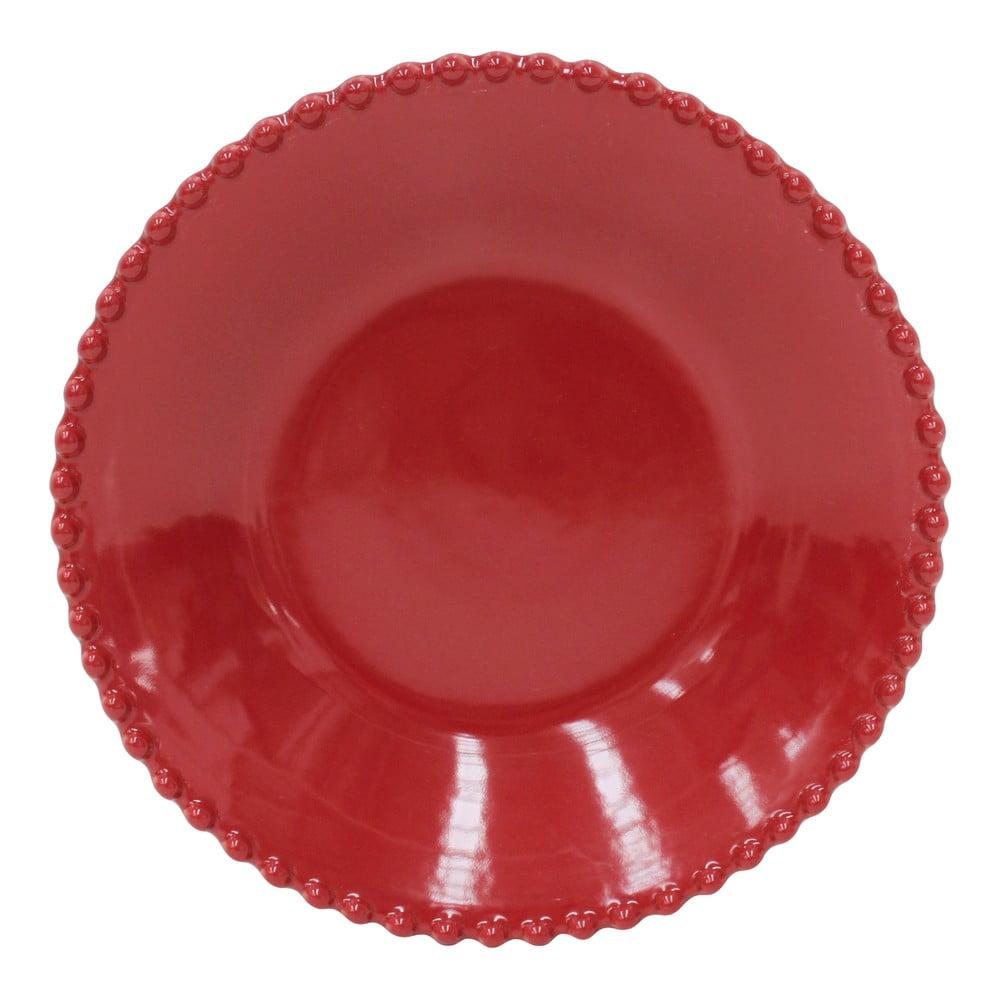 Farfurie adanca din gresie Costa Nova, ø 24,2 cm, rosu rubin