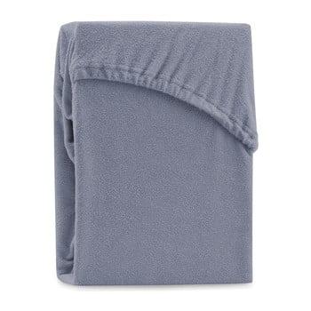 Cearșaf elastic pentru pat dublu AmeliaHome Ruby Siesta , 200-220 x 200 cm, gri bonami.ro