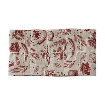 Set 4 șervețele textile Linen Couture Red Peppers, lățime 40 cm bonami.ro