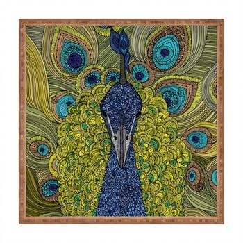 Tavă decorativă din lemn Peacock, 40x40cm bonami.ro
