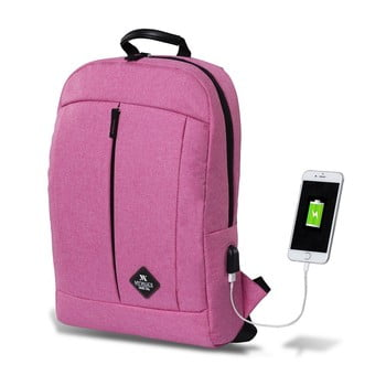 Rucsac cu port USB My Valice GALAXY Smart Bag, roz bonami.ro