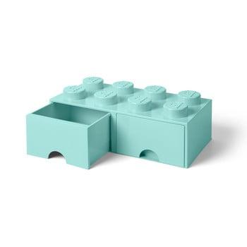 Cutie depozitare cu 2 sertare LEGO®, verde mentă bonami.ro