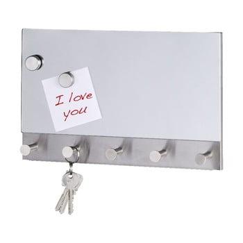 Cuier magnetic pentru haine/chei Wenko Mirror Long, 30 x 19 cm bonami.ro