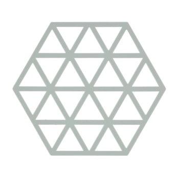Suport din silicon pentru vase fierbinți Zone Triangles, gri deschis poza bonami.ro