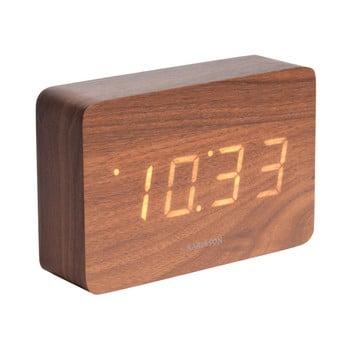 Ceas alarmă cu aspect de lemn, Karlsson Cube, 15 x 10 cm bonami.ro