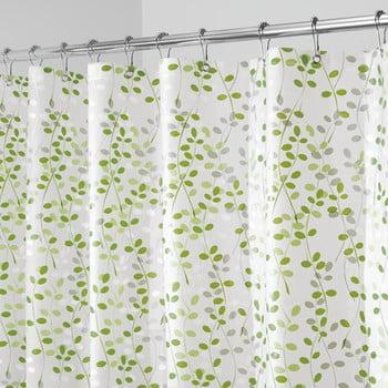 Perdea de duș iDesign Vine, 183x183cm, alb - verde bonami.ro