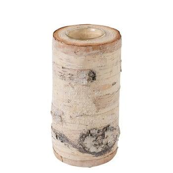 Sfeșnic din lemn masiv de mesteacăn J-Line, înălțime 20 cm bonami.ro