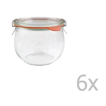 Set 6 borcane cu capac ermetic Weck Tulpe, 580 ml poza bonami.ro
