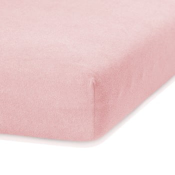 Cearceaf elastic AmeliaHome Ruby, 200 x 160-180 cm, roz deschis bonami.ro