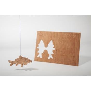 Carte poștală din lemn Formes Berlin Kapr, 14,8 x 10,5 cm poza bonami.ro