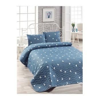 Set cuvertură de pat și față de pernă Mismo Cula, 160 x 220 cm, albastru bonami.ro