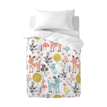 Lenjerie de pat din bumbac pentru copii Moshi Moshi Woodland, 100 x 120 cm bonami.ro