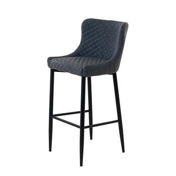 Scaun bar tapițat Unique Furniture Ottowa, înălțime 105 cm, gri imagine