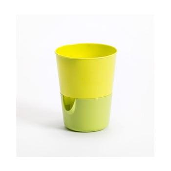 Ghiveci cu sistem de auto-irigare Plastia Rosmarin, verde-galben bonami.ro