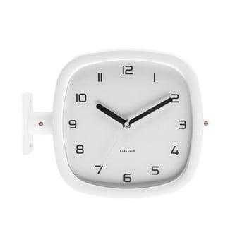 Ceas de perete Karlsson Slides, 29 x 24,5 cm, alb bonami.ro