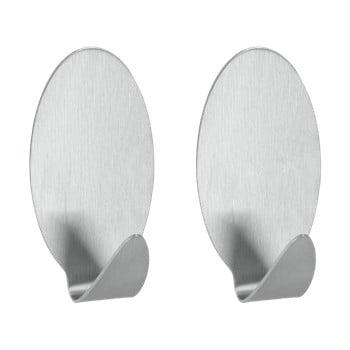 Set 2 cârlige autoadezive din oțel inoxidabil Metaltex Mia bonami.ro